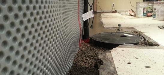 water proofing interior basement
